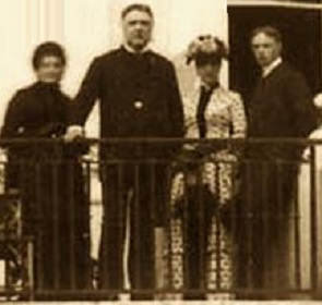 Presidential sister Molly McElroy, President Arthur, and his children Nell and Alan Arthur.
