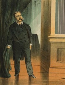 Chester Arthur entered the presidency as the fourth widower. (LC)