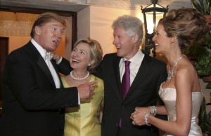 Former First Lady Hillary Clinton and former President Bill Clinton were guests at the 2005 wedding of Donald and Melania Trump. (CNN)