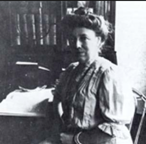 "Helen ""Nellie"" Taft in her husband's study. (LC)"