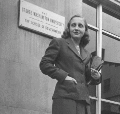 Margaret Truman at G.W.U. (Getty)
