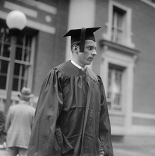 John Coolidge, graduating from Amherst College shared a dorm room with his Secret Service agent. (Boston Public Library)