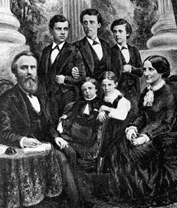 The two eldest Hayes sons lived at the White House with their parents, one delaying entrance into Cornell University, the other delaying law school. (Hayes Presidential Center)