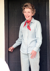 Nancy Reagan at the ranch. (RRL)