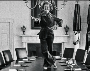 Betty Ford in pants, 1977. (GRFL)