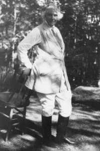 Mrs. Hoover wore her riding pants in private. (Hoover Library)