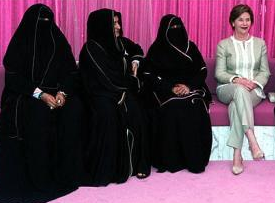 Mrs. Bush in Saudi Arabia. (Getty)