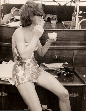 Jackie Kennedy in her bathing suit. (People)