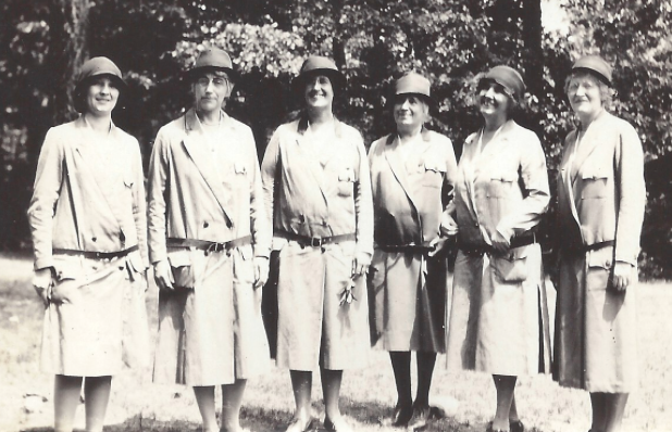 Mrs. Hoover, second from right, with other leaders of the national Girl Scout organization. (gshistory.com)