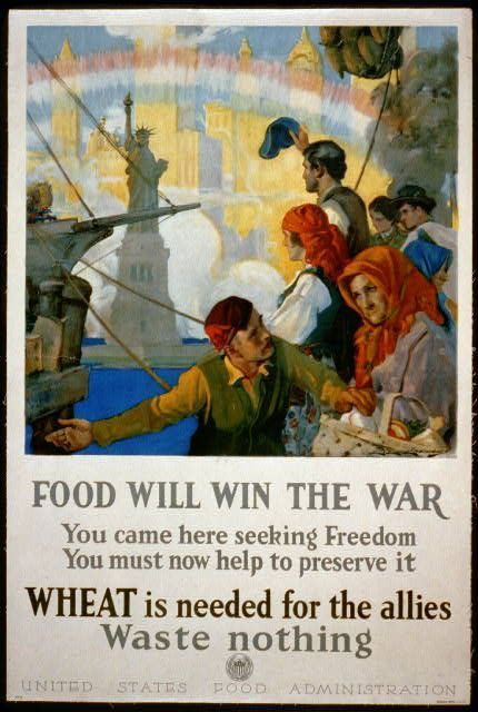 A World War I food conservation poster. (USFDA)