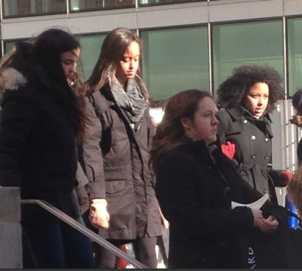 Malia Obama touring Columbia University, apparently one of the potential colleges she may attend in the fall of 2016, (Washington Post)