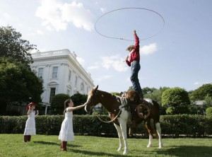 A performance on the South Lawn during the years Laura Bush was First Lady. (GWBPL)