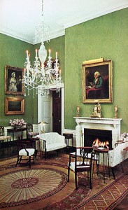 The completed Kennedy Green Room. (JFKL)