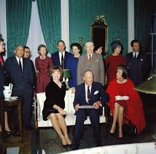 Mrs. Kennedy and her committee. (JFKL)