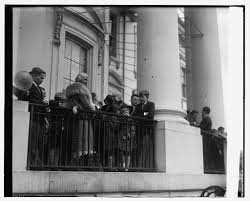 Lou Hoover looks over crowds on the South Lawn, circa 1930. (LC)