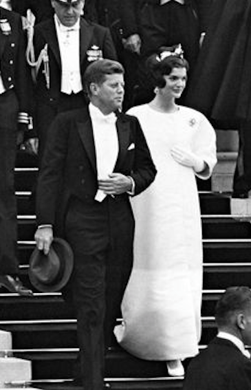 Although she made many visually startling appearances during many foreign trips, it was her regal bearing during her first state trip with the President, to Paris, as she joined him to proceed to Versailles for a formal dinner, which singularly captivated the world's attention of this new type of modern American woman. (Getty)