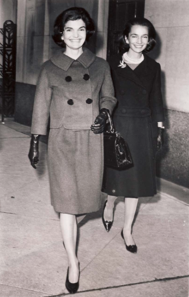 Jackie Kennedy and Lee Radziwill during the 1960 presidential election.
