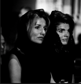 Lee Radziwlll and Jackie Kennedy at the RFK funeral. (pinterest)