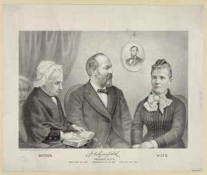 The first of four Garfield lithographs by Kurz and Allison. (Library of Congress)