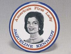 The only known Jacqueline Kennedy campaign button. (ebay)