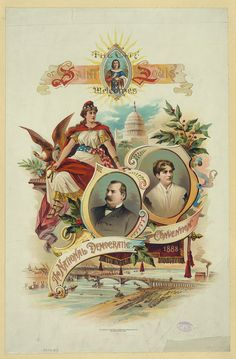 Frances Cleveland was featured with her husband on the official program of the Democratic Convention which nominated him for a second time in 1888. (Library of Congress)
