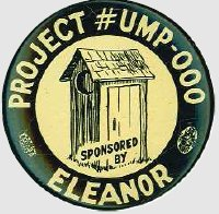 An ant-FDR 1940 campaign button critical of Eleanor Roosevelt's social policy work. (ebay)