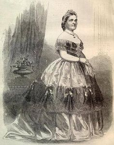 Harper's Weekly featured this full-length image of the First Lady in its November 8, 1862 edition