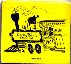 A matchbook with the color and logo of the Lady Bird Special was also handed out along the journey.