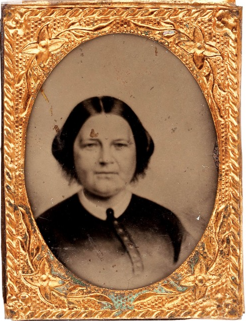 One of two known Mary Lincoln badges used during the 1864 campaign. (New York Times)