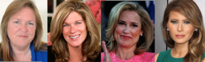 Four of the 2016 presidential candidates' spouses: Jane Sanders, Katie O'Malley, Hiiedi Cruz, Melania Trump. (wikipedia, getty,   unknown original sources)