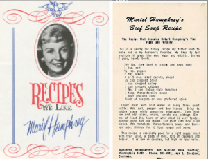 Muriel Humphrey's meatloaf recipe from a campaign booklet of her family favorites. (Duke University)