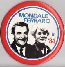 Ferraro was the first woman on a national presidential ticket. (ebay)