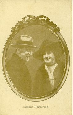 A souvenir postcard made at the time of the Wilson marriage.