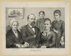 The second Garfield lithograph made as a campaign item, its first printing being dates as October 17, 1881. (Library of Congress)