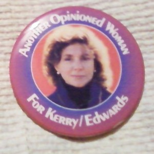 A button wryly referencing Teresa Kerry's quip to a reporter. (ebay)