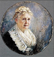A portrait of former First Lady Lucretia Garfield from the early 20th century. (art-then-and-now.blogspot)