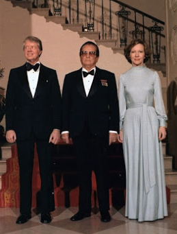 As White House hostess, Rosalynn Carter had decided with the President to not serve hard liquor to guests, as an economic measure. (JCPL)