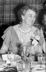 Eleanor Roosevelt at a banquet. She served liquor to guests but did not drink herself. (carlanthonyonline)