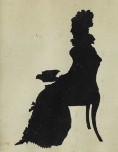 A silhouette of Louisa Adams. (ebay)