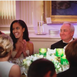 Malia Obama at the Canadian state dinner.