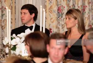 First Daughter Jenna Bush with her future husband Henry Hager at a 2005 state dinner. (Getty)
