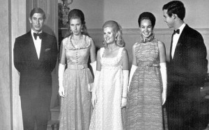 Tricia Nixon, Julie Nixon Eisenhower and David Eisenhower hosted a state dinner for Prince Charles and Princess Anne of England. (RNPL)