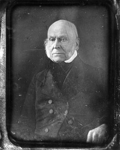 A rare photo of former President John Quincy Adams. (LC)