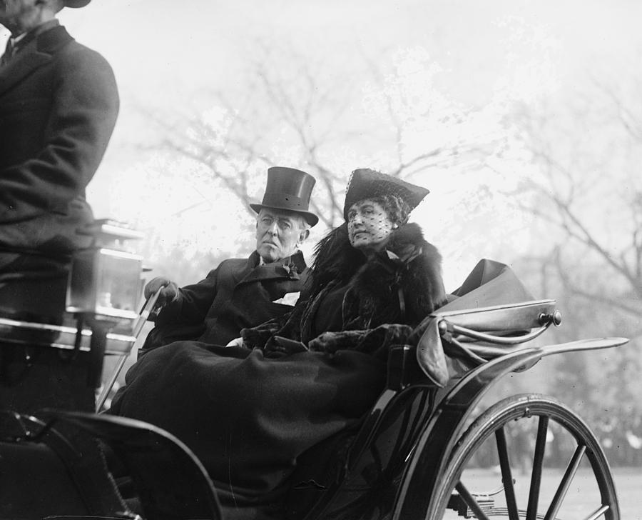 Former President and Mrs. Woodrow Wilson, the only presidential couple to date that remained in Washington, D.C. after moving out of the White House. (Library of Congress)