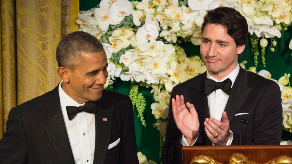 President Obama and Prime Minister Trudeau at the state dinner. (WH)