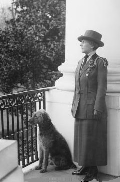 Florence Harding and Laddie Boy. (NFLL)