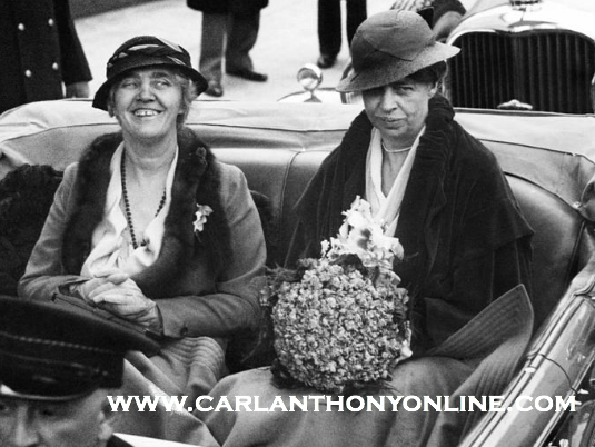 Lou Hoover and Eleanor Roosevelt, Inauguration Day, March 4, 1933. (carlanthonyonline.com)