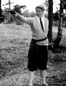 Eleanor Roosevelt conceded to the Secret Service request that she learn how to use a pistol for self-protection and the acquiesced in her request not to trail her (FDRL)