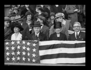 The Coolidges at Game Seven of the 1924 World Series (LC)
