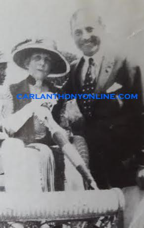 Florence Harding and her devoted Secret Service agent Harry Barker. (carlanthonyonline.com)
